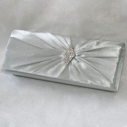 Hopean värinen käsilaukku