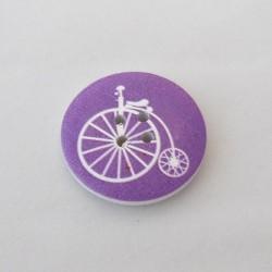 Lila polkupyöräkuvioinen nappi