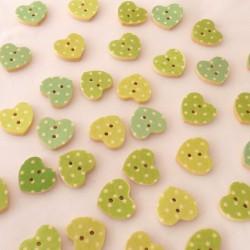 Vihreäsävyiset sydännapit,...