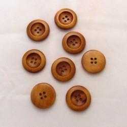 Ruskea puunappi, 25 mm